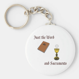 Word and Sacraments Basic Round Button Key Ring