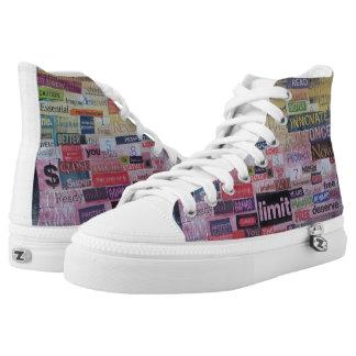 """""""Word Art"""" High Top Sneakers"""