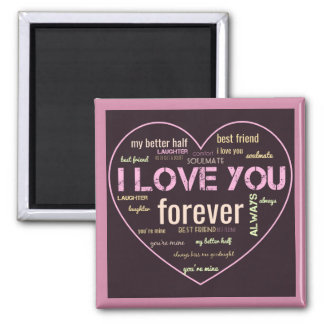Word art love magnet