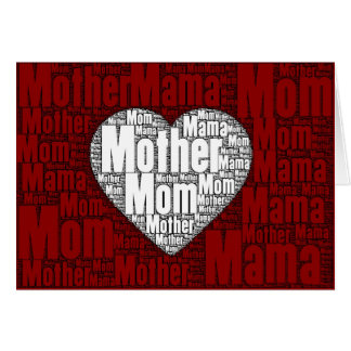 Word Art: Valentine for Mother Card