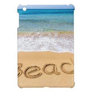Word Beach written in sand at greek sea iPad Mini Covers