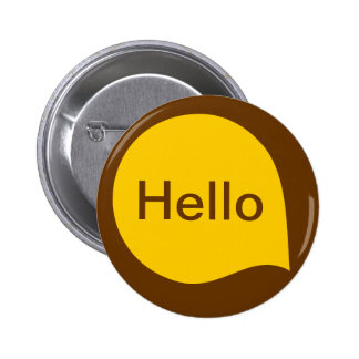 Word Bubble - Amber on Brown Pin