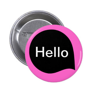 Word Bubble - Black on Deep Pink 6 Cm Round Badge