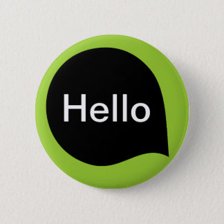 Word Bubble - Black on Martian Green 6 Cm Round Badge