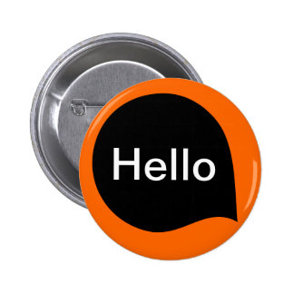 Word Bubble - Black on Orange 6 Cm Round Badge