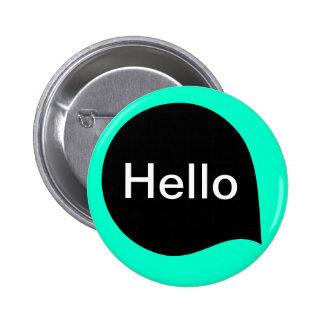 Word Bubble - Black on Turquoise 6 Cm Round Badge
