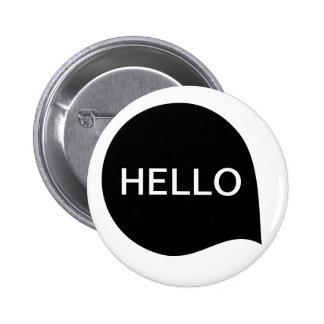 Word Bubble - Black on White 6 Cm Round Badge