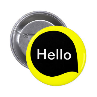 Word Bubble - Black on Yellow 6 Cm Round Badge