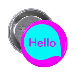 Word Bubble - Cyan on Magenta Pin