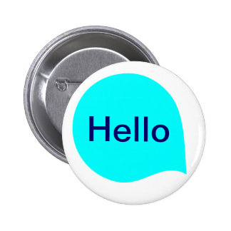 Word Bubble - Cyan on White 6 Cm Round Badge