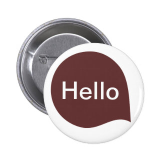 Word Bubble - Dark Brown on White 6 Cm Round Badge