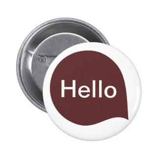 Word Bubble - Dark Brown on White Pinback Button