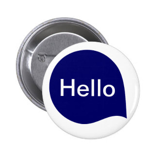 Word Bubble - Deep Navy Blue on White 6 Cm Round Badge