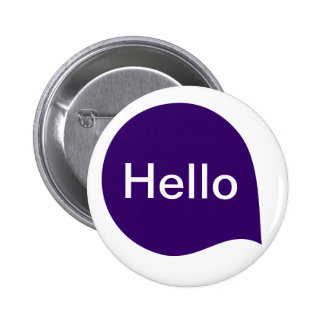 Word Bubble - Deep Purple on White 6 Cm Round Badge