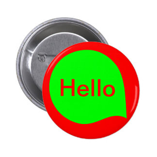 Word Bubble - Green on Red 6 Cm Round Badge