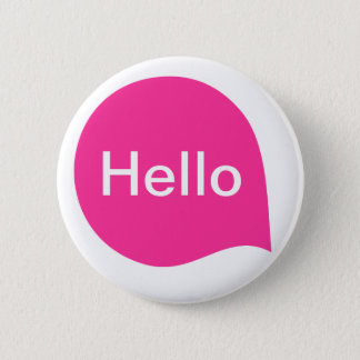 Word Bubble - Hot Pink on White 6 Cm Round Badge