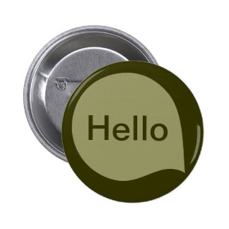 Word Bubble - Khaki on Deep Olive Pinback Buttons