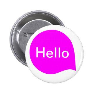 Word Bubble - Magenta on White Button