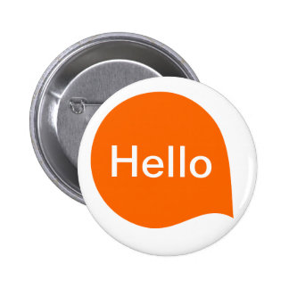 Word Bubble - Orange on White Pins
