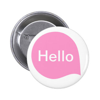 Word Bubble - Pink on White 6 Cm Round Badge