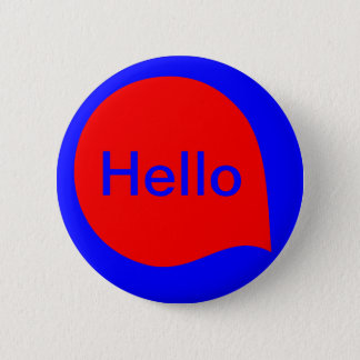 Word Bubble - Red on Blue 6 Cm Round Badge