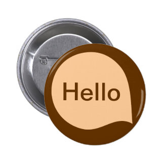 Word Bubble - Sand on Brown Pinback Buttons