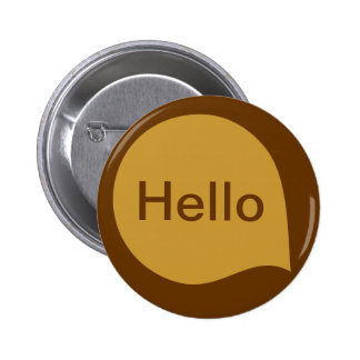 Word Bubble - Shades of Brown 6 Cm Round Badge