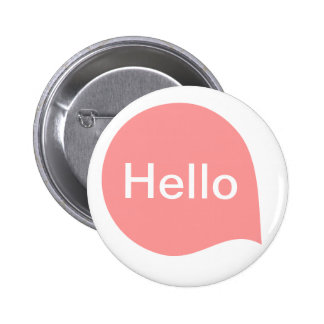 Word Bubble - Soft Pink on White Pinback Buttons