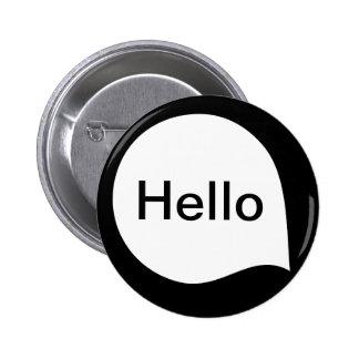 Word Bubble - White on Black Button