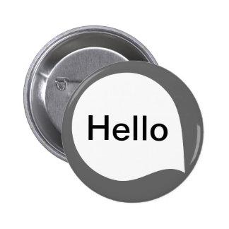 Word Bubble - White on Gray Pinback Button