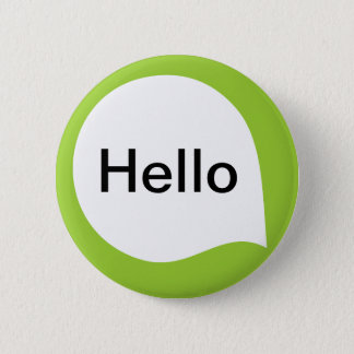Word Bubble - White on Martian Green 6 Cm Round Badge