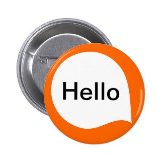 Word Bubble - White on Orange 6 Cm Round Badge
