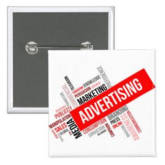 word cloud - advertising 15 cm square badge