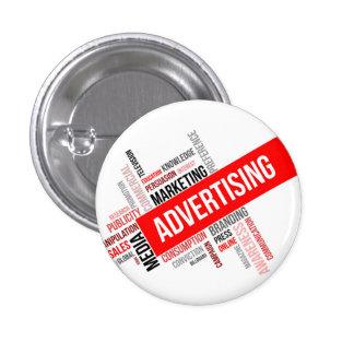word cloud - advertising 3 cm round badge
