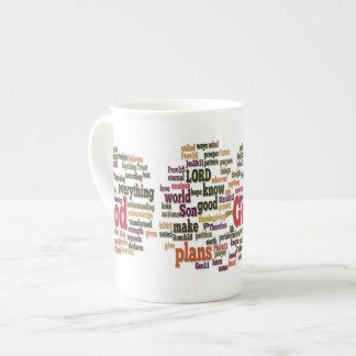 Word Cloud for Top 10 Bible Verses Bone China Mug