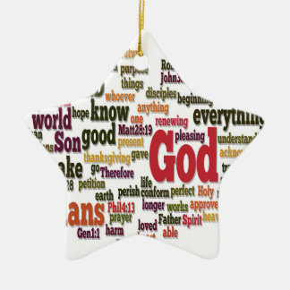 Word Cloud for Top 10 Bible Verses Ornament