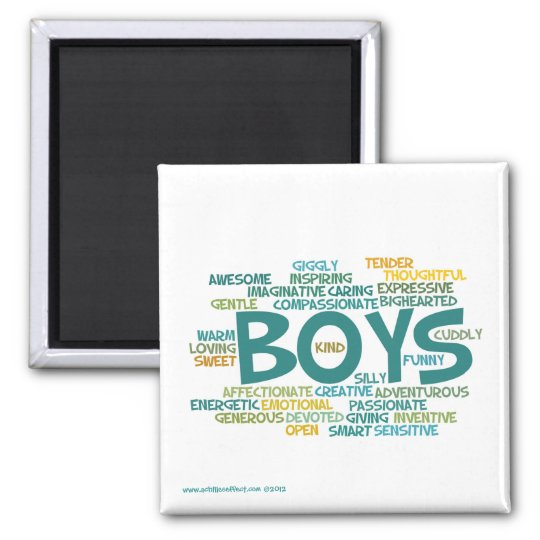 Word Cloud Magnet--The Wonder of Boys Magnet