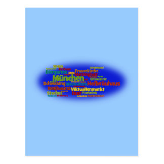 Word cloud word cloud Munich Munich Postcard
