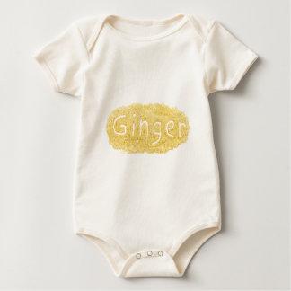 Word Ginger written in spice powder Baby Bodysuit
