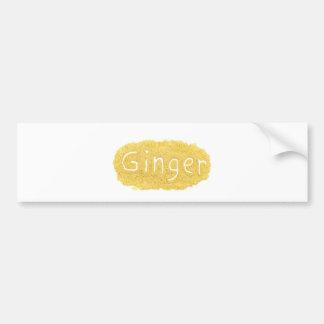 Word Ginger written in spice powder Bumper Sticker