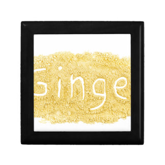 Word Ginger written in spice powder Gift Box