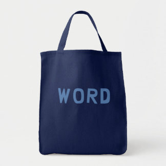 Word Grocery Tote Bag