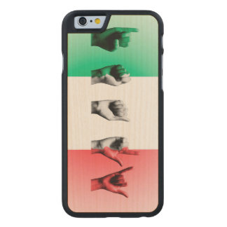 Word Italy over the italian flag Carved Maple iPhone 6 Case