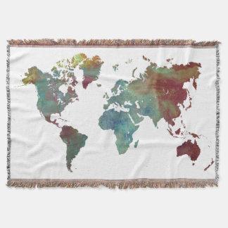 word map after dark throw blanket