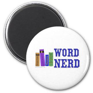 Word Nerd 6 Cm Round Magnet