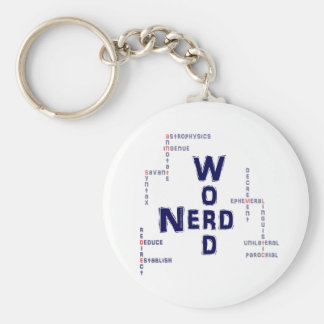 Word Nerd Key Ring
