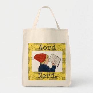 Word Nerd tote