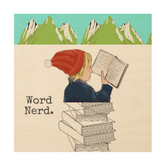 Word Nerd Wood Wall art