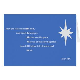 Word of God Christmas Card