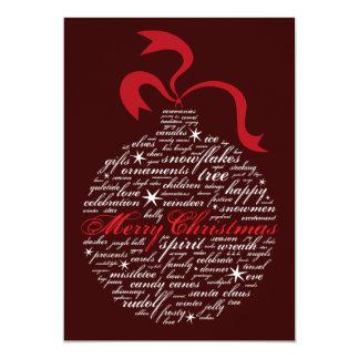 Word Ornament 13 Cm X 18 Cm Invitation Card
